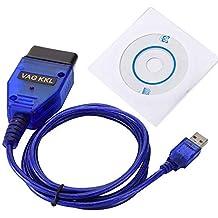 Cable USB KKL VAG-COM 409.1 OBD2 II OBD Escáner de diagnóstico VW/Audi