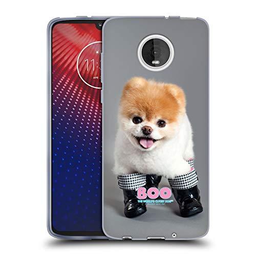 Head Case Designs Ufficiale Boo-The World's Cutest Dog Stivali Primi Piani Cover in Morbido Gel Compatibile con Moto Z4 / Z4 Play / Z4 Fo