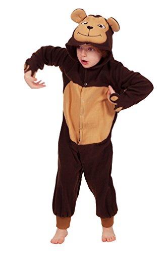 Karneval-Klamotten Kostüm AFFE Kind Karneval Tier Kinderkostüm Größe ()