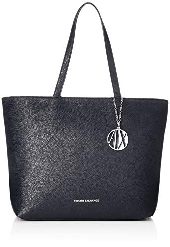 ARMANI EXCHANGE Womans Shopping - Borse Tote Donna, Blu (Navy), 30x10x42 cm (B x H T)