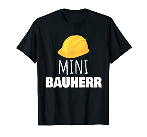 Mini Bauherr mit Helm I Lustiges Baustellen  T-Shirt - Helm Kinder T-shirt