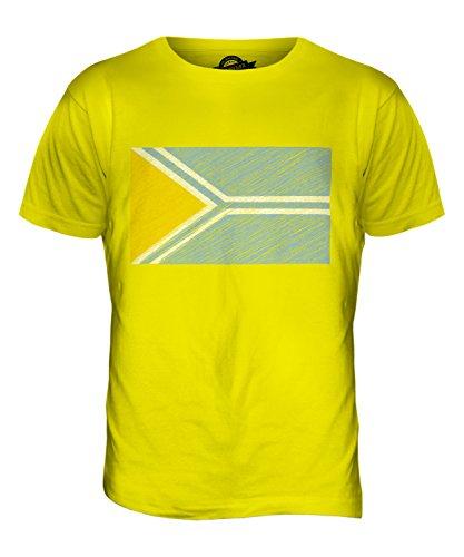 CandyMix Tuwa Kritzelte Flagge Herren T Shirt Zitronengelb