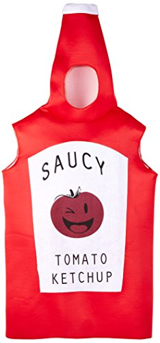 Senf Ketchup Kostüm - ILOVEFANCYDRESS I Love Fancy Dress ilfd4531 Frecher Ketchup Flasche Kostüme (One Size)