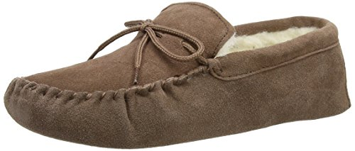 SNUGRUGS  Wool Lined Suede - Soft Sole, Chaussons à doublure chaude homme Marron (Light Brown)
