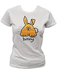 Womens bunny T.shirt. White.