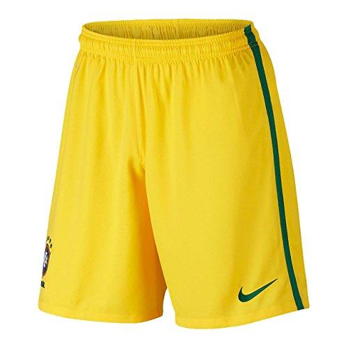 Nike CBF M/H A Stadium Short-Pantaloncini, collezione ufficiale, UOMO, Amarillo / Verde, S