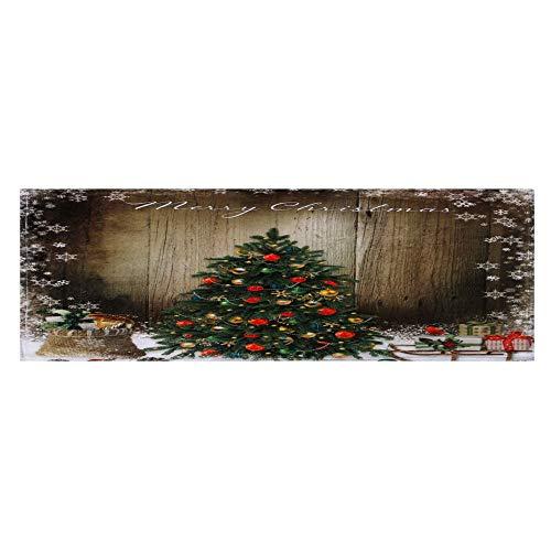 Hukz Frohe Weihnachten Weihnachtsmatte Willkommen Fußmatten Indoor Home Carpets Decor (40x120CM) (D)