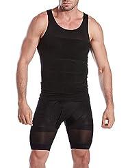 OSAYES Camiseta Interior Faja Reductora Abdominal Entallada Moldeadora Adelgazante para Hombre