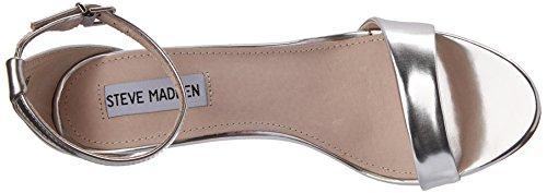 Steve Madden - Silly, sandalo Donna Argentato (Silver Foil)