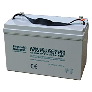 100Ah 12V Photonic Universe deep cycle AGM battery for a