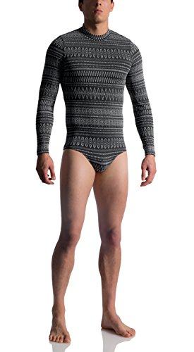 MANSTORE M760 Norweger Pullover Body mit silbernem Lurexmuster - limitierte Kollektion norway
