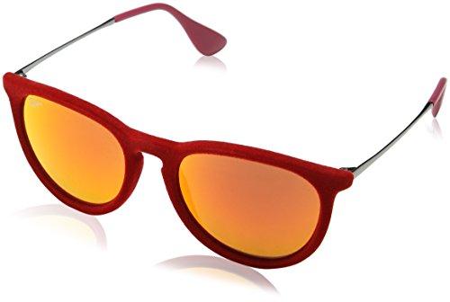 Ray-Ban Unisex Sonnenbrille RB4171, Einfarbig, Gr. Medium (Herstellergröße: 54), Rot (60766Q)