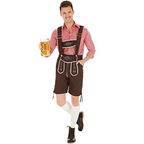 dressforfun Herrenkostüm Trachten Set | Schicke Trachtenhose | Traditionelle Stickereien | Legeres, stylisches Trachtenhemd (L | Nr. 301097)