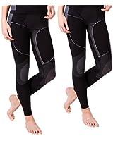 2 Stück Lange Damen-Unterhosen, Skiunterhose, Funktionsunterwäsche, innen angeraut, in der Grössen S/M und L/ XL lieferbar