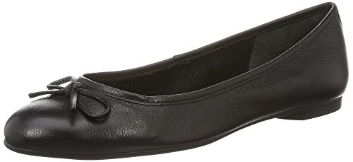 Buffalo London Damen ZS 2590-16 Vegetal Leather Geschlossene Ballerinas, Schwarz (Black 01), 40 EU