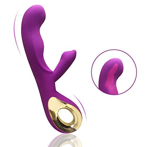 MEROURII Dualer Motor G Punkt Vibratoren - Klitorisstimulation mit 10 vibrationsmodi - Dildo Rabbit Vibratoren Sexspielzeug für Frauen und Paare - 100% medizinisches Silikon