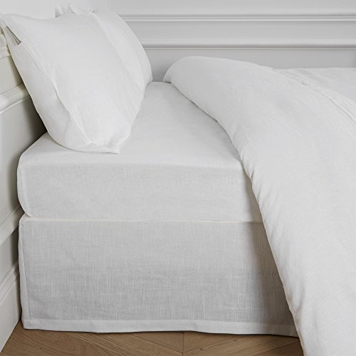 MADURA Cache Sommier Bellevue, Polyester, Blanc, 200 x 160 cm
