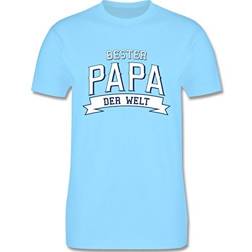 Vatertag - Bester Papa der Welt - Herren Premium T-Shirt Hellblau