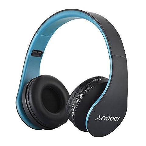 Andoer LH-811 Numérique 4 en 1 Multifonction Sans Fil Stéréo Bluetooth 3.0 + EDR Casque avec Micro MP3 Lecteur MicroSD / TF Musique Radio FM Mains Libres pour Téléphones Intelligents PC Portables
