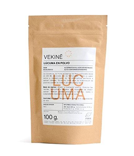 Lucuma Ecológica en polvo 200 gr superalimentos VEKINE | 2 X 100 gr Endulzante natural controlador hormonal efecto