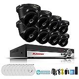 SHENG Sicherheitskamera 1080p HD-WLAN-Überwachungseinstellungen mit Bildschirm nvr Recorder Telefon Fernsicht WiFi-Kamera unterstützen ios Android-App