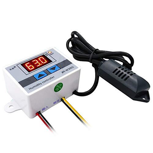 XH-W3005 Feuchtigkeitsregler, Baugger- Multifunktionaler praktischer hochpräziser digitaler Hygrometer-Schalter 0~99{14642ba38b9be6aa6afd4a2ff1e65bf0fc524c645cf4d1354c0bac4150a90544} rF Hygrostat mit Sensor