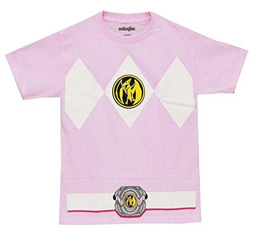 Power Rangers Pink Rangers Kostüm Erwachsene T-Shirt, Medium (Women's Pink Power Ranger Kostüm)