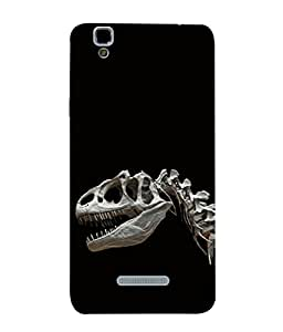 PrintVisa Dainosaurs Skull 3D Hard Polycarbonate Designer Back Case Cover for YU Yureka Plus :: Yu Yureka PlusYU5510A