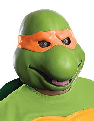 Michelangelo 3/4Vinyl-Maske, Herren Teenage Mutant Ninja Turtles Kostüm (Movie Tmnt Kostüm)
