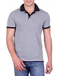 Vivid Bharti Men's Cotton T-Shirt, XXXL(Grey, SM140)