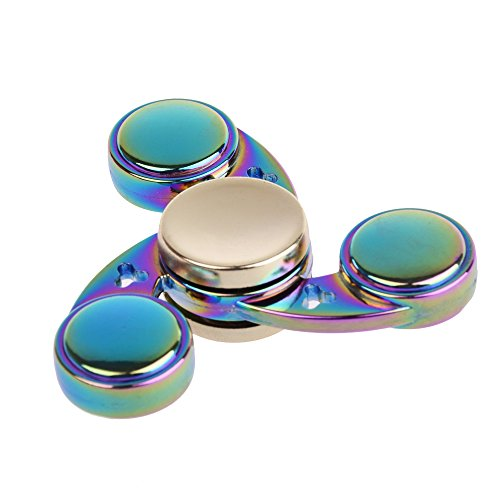 #LEEHUR- Fidget Spielzeug Spinner Finger Hand Toy, EDC ADHD Focus Tri-spinner to Relieves Anxiety and Boredom (Circle- Bunt)#
