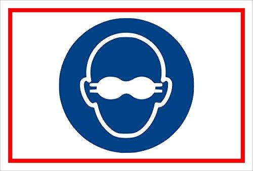 Schild - Gebots-zeichen - Augen-schutz - entspr. DIN ISO 7010 / ASR A1.3 - 60x40cm | stabile 3mm starke PVC Hartschaumplatte - S00361-013-B +++ in 20 Varianten erhältlich