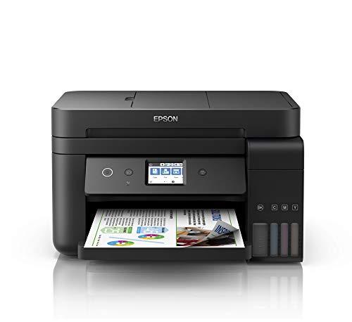 Epson EcoTank ET-4750 4-in-1 Tinten-Multifunktionsgerät (Kopierer, Scanner, Drucker, Fax, A4, ADF, Duplex, WiFi, Ethernet, Display, USB 2.0), großer Tintentank, hohe Reichweite, niedrige Seitenkosten -