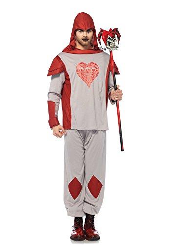 Leg Avenue 85600 2 PC. 2 teilig Card Guard Hemd, Männer Karneval Kostüm Fasching, M/L, rot (Card Guard Kostüme)