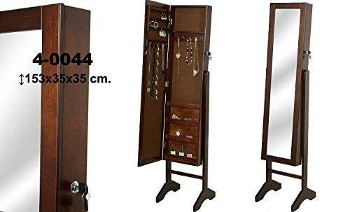 DonRegaloWeb-Espejo-de-pie-con-joyero-de-madera-con-puerta-en-color-nogal