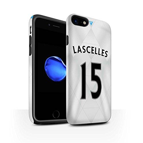 Offiziell Newcastle United FC Hülle / Matte Harten Stoßfest Case für Apple iPhone 7 / Saivet Muster / NUFC Trikot Away 15/16 Kollektion Lascelles