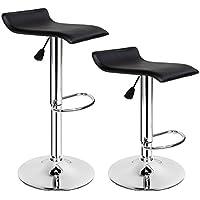 """TecTake Tabourets de bar chaise fauteuil bistrot réglable pivotant siège design - diverses modèles - (2x """"Lars""""   no. 401571)"""