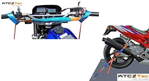 MSS Motorradsicherung vorne + hinten Set Spanngurt Zurrgurt Motorradspanngurt