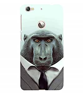 Fuson Designer Back Case Cover for LeEco Le 1s :: LeEco Le 1s Eco :: LeTV 1S (Ape With Blazer Suit Imaginary Designed primitive)