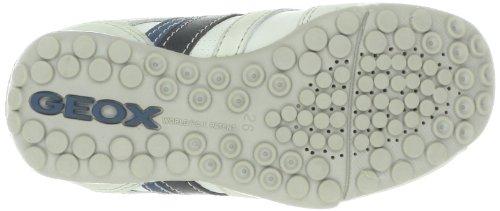 GEOX garçon junior mocassins j sNAKE mOC e off white/avio j3216E 04332 c1167 (sGK - 144) Blanc - White/Avio