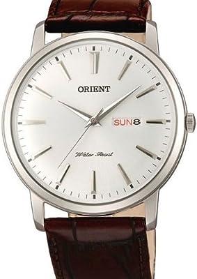 Orient UG1R003W - Reloj para hombres, correa de cuero color marrón