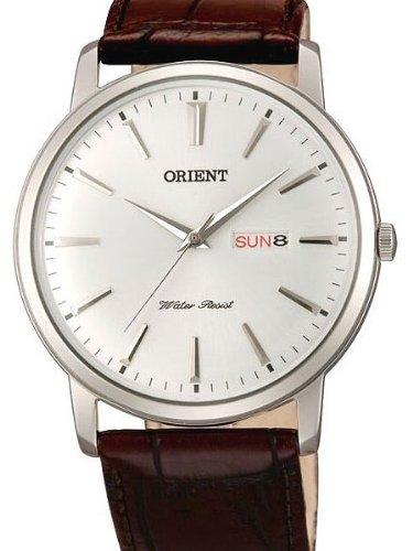 Orient UG1R003W – Reloj para hombres, correa de cuero color marrón