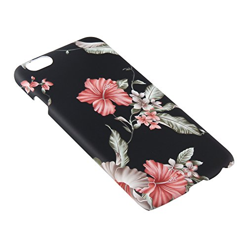 Eleoption Retro Floral Series Coque de protection en TPU 3D pour iPhone Motif floral vintage rétro tendance iphone 6/6s Plus Blumen 4 - Blumen 4