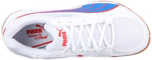 Puma Vellum II Jr 102066 Unisex - Kinder Sportschuhe - Indoor Weiss (white-puma royal-high risk 13)