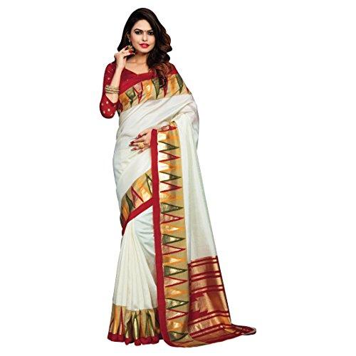Craftsvilla Silk Saree With Blouse Piece (MCRAF73130926570_White_Free Size)