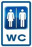 Cartel Resistente PVC - WC DOBLE - Señaletica de informacion