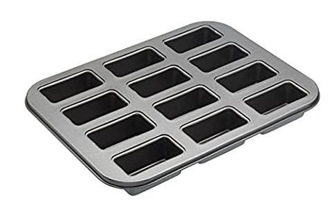 Master Class 12-Hole Non-Stick Mini Loaf Tin/Cake Pan with Loose