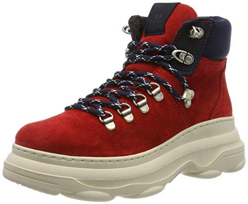 Marc O'Polo Damen 90815336301315 Stiefeletten, Rot (Red 345), 38 EU