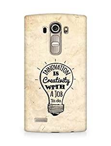 Amez Innovation is Creativity with a Job to do Back Cover For LG G4