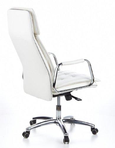 HJH OFFICE 600922 Bürostuhl / Chefsessel VILLA 20 Nappaleder elfenbein - 5